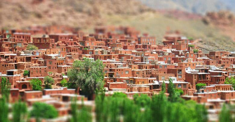 red village in Iran